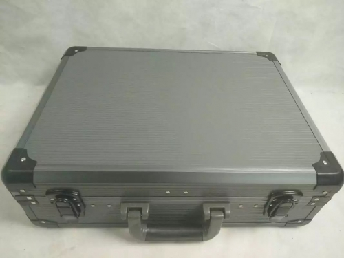 Grey stripe panel with grey aluminum frame tool case/box